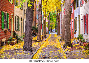 秋, フィラデルフィア, ペンシルバニア, アメリカ