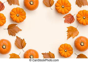秋, フレーム, 構成, 背景