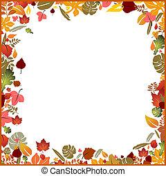 秋, フレーム, 背景