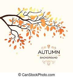 秋, ベクトル, ブランチ