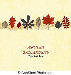 秋, ベクトル, 背景