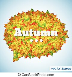秋, ポスター, 抽象的, 群葉