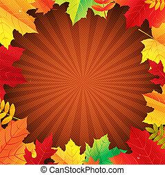 秋, ポスター, 葉