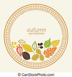 秋, ラウンド, 要素