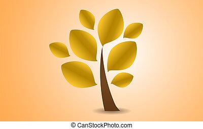 秋, ロゴ, 木, 1(人・つ)