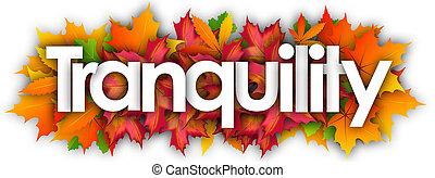 秋, 単語, 平穏, 葉, 背景