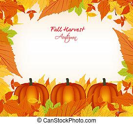 秋, 収穫, 背景