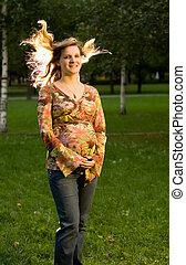 秋, 妊娠