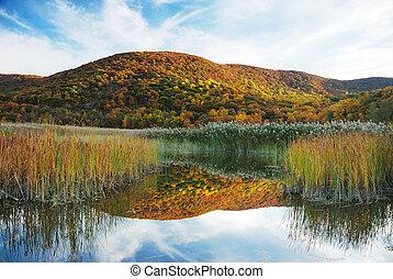 秋, 山湖