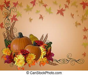 秋, 感謝祭, 背景, 秋