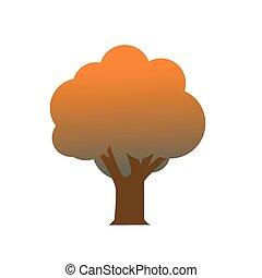 秋, 木, アイコン
