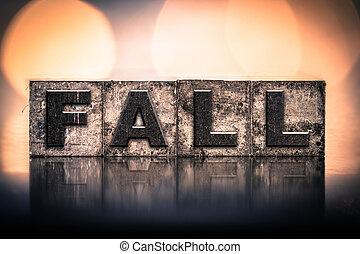 秋, 概念, 型, 凸版印刷, タイプ