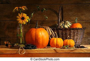 秋, 生活, まだ
