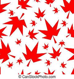 秋, 秋かえでリーフ, seamless, パターン, 背景