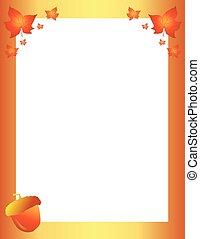 秋, 秋, ボーダー, ∥で∥, 葉, そして, ドングリ