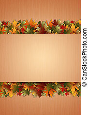 秋, 背景, ∥で∥, 葉
