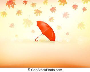 秋, 背景, ベクトル