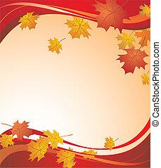 秋, 背景, 赤