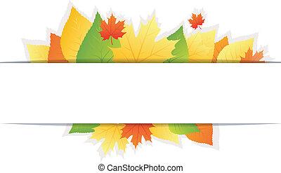 秋, 背景, leafs