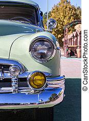 秋, 自動車, 古い, 道