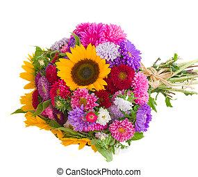 秋, 花, 花束