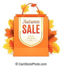 秋, 袋, 買い物, セール