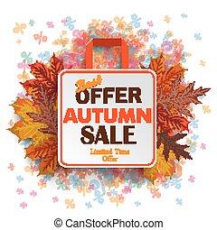 秋, 袋, percents, 買い物, セール
