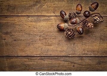 秋, 装飾, 木, 無作法, グランジ