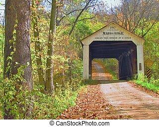 秋, 覆われた 橋