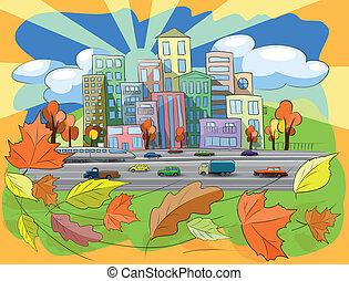 秋, 都市