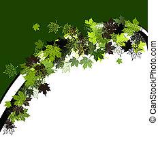 秋, frame:, かえで, leaf., 場所, ∥ために∥, あなたの, テキスト, here.