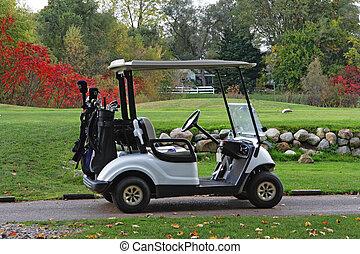 秋, golfcart