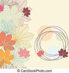 秋, seamless, 背景, leaves.
