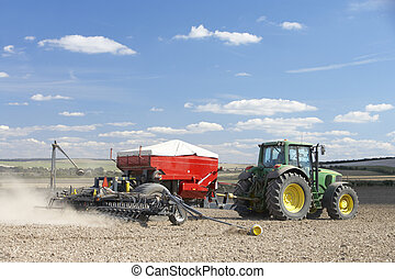 种植, 種子, 拖拉机, 領域