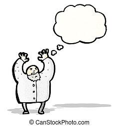 科学者, 気違い, 漫画