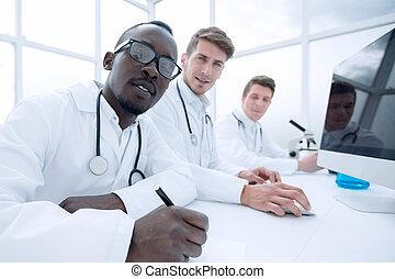 科学者, 現代, グループ, 実験室, 仕事