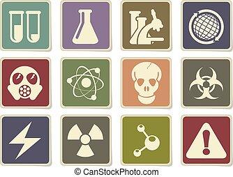 科学, セット, アイコン