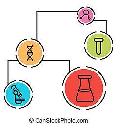 科学, データ, チャート