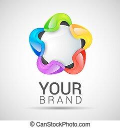 科学, 抽象的, -, あなたの, ベクトル, ロゴ, 技術, ブランド, アイコン