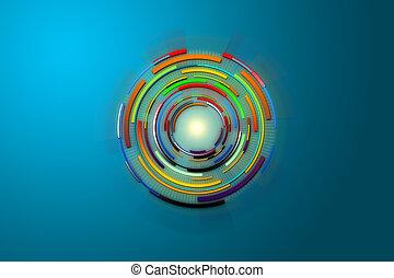 科学, 抽象的, 未来, デジタルの技術, concept.