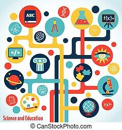 科学, 木, infographics