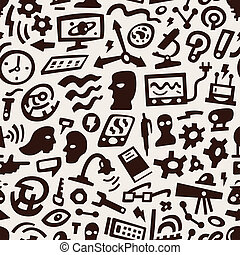 科学, -, 考え, 背景, seamless