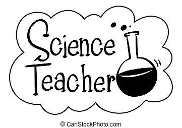 科学, 英語, 教師, 句
