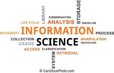 科学, -, 雲, 単語, 情報