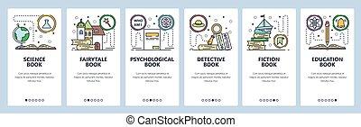 科学, development., ウェブサイト, サイト, テンプレート, 網, non-fiction, ベクトル...