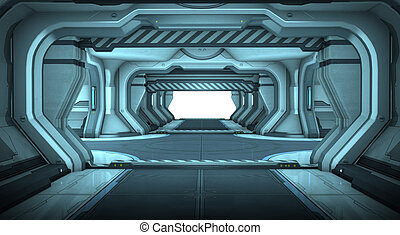 科學幻想小說, 走廊, 內部設計