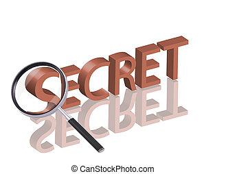 秘密, 捜索しなさい