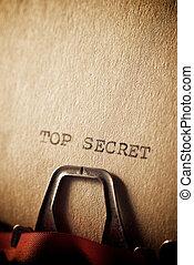 秘密, 概念, 上