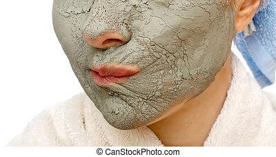 秘密, firming, マスク, 美顔術, 皮膚