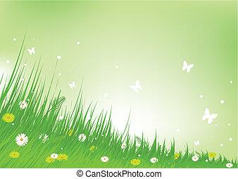 称賛, 牧草地, 背景